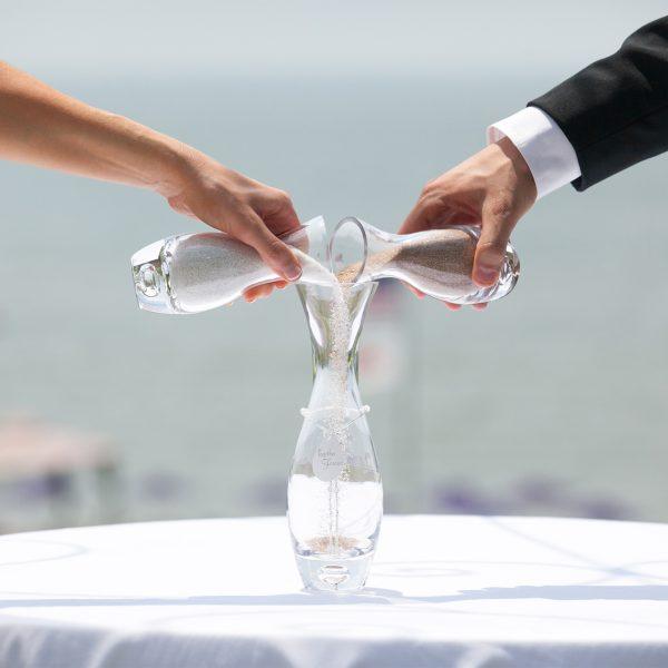 Wedding sand ceremony at Water's Edge Resort & Spa- Westbrook CT