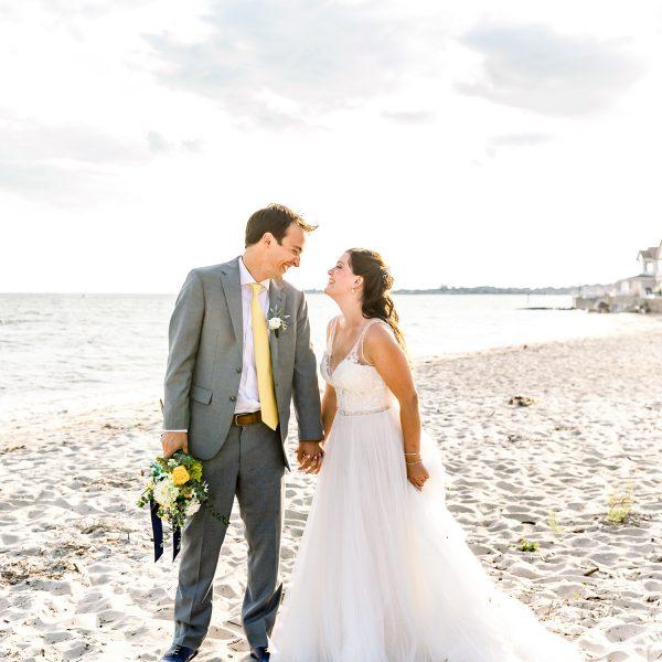 Beach wedding photos at Water's Edge Resort & Spa- Westbrook CT