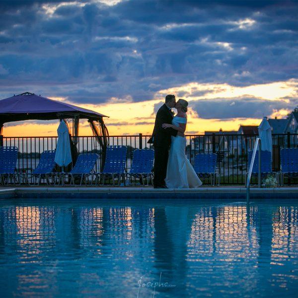 Pool Front Weddings at Water's Edge Resort & Spa- Westbrook CT